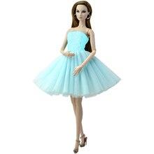 NK 1 Set Mode Puppe Kleid Party Kleid Mini Spitze Rock Täglichen Casual Wear Kleidung für Barbie Puppe Zubehör Baby DIY Spielzeug 85G 7X