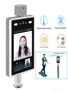 Camera Access-Control Face-Recognition Entrance for And Exit Temperature-Indicator Human-Body-Thermometer