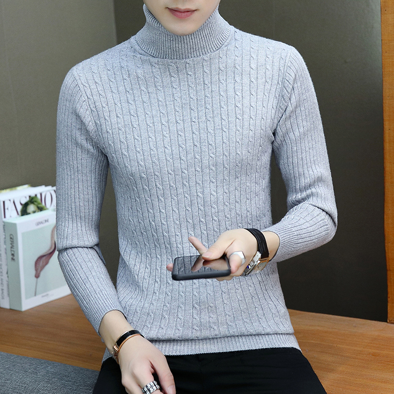 Men's Clothing ... Sweaters ... 32794684806 ... 4 ... (7 colors) high quality men's pullover 2019 new fashion round neck striped winter sweater men's brand pullover casual sweaters ...