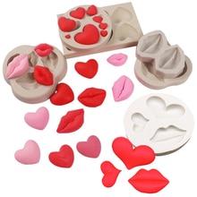 Lip Heart LOVE Shapes Silicone Mold Sugarcraft Cookie Cupcake Chocolate Baking Mold Fondant Cake Decorating Tools