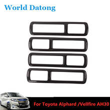 Carbon fiber Drawing Interior Car Rear Upper Air Outlet Frame ABS Trim for Toyota Alphard / Vellfire AH30 2016-2019 lapetus car styling upper roof air conditioning ac vent outlet cover trim abs fit for toyota alphard vellfire ah30 2016 2019