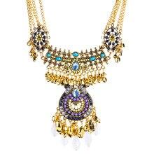XL7685 Европа и Америка Преувеличение многослойное ожерелье с кисточками из сплава капли воды свитер цепи богемного стиля производителей Di