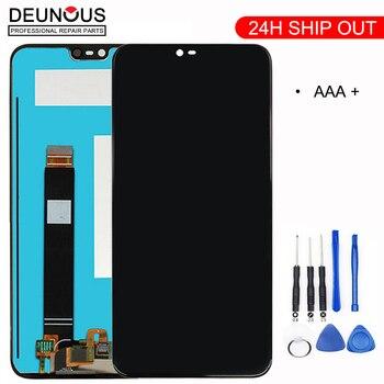 Оригинал для Nokia X6 ЖК-дисплей Сенсорная панель экрана для Nokia 6,1 Plus ЖК-сенсорный экран дигитайзера ЗАМЕНА Запасные части для ремонта