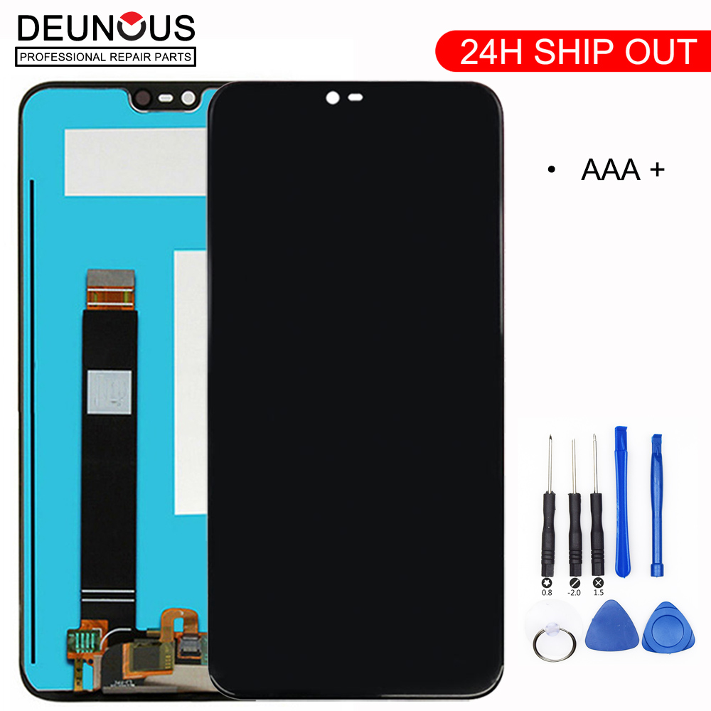 Original For Nokia X6 LCD Display Touch Screen Panel For Nokia 6.1 Plus LCD Digitizer Touchscreen Replacement Spare Repair Parts