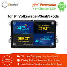 "Ownice 2Din 9 ""Android 8.1 4G Auto dvd GPS Navigatie Speler voor Volkswagen VW SKODA GOLF 5 Golf 6 POLO PASSAT B5 B6 JETTA TIGUAN"