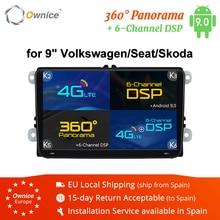 "Ownice 2Din 9 ""Android 8.1 4G Auto dvd GPS Navigation Player für Volkswagen VW SKODA GOLF 5 Golf 6 POLO PASSAT B5 B6 JETTA TIGUAN"