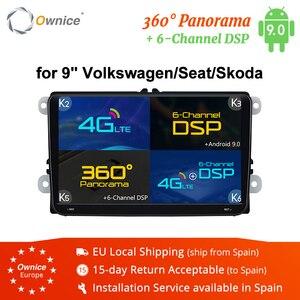 "Image 1 - Ownice 2Din 9 ""Android 8.1 4G voiture dvd lecteur de Navigation GPS pour Volkswagen VW SKODA GOLF 5 Golf 6 POLO PASSAT B5 B6 JETTA TIGUAN"