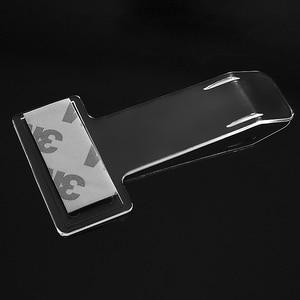 Image 5 - 2pcs/4pcs Car Vehicle Parking Ticket Permit Holder Clip Sticker Windscreen Window Fastener Stickers Hook Kit For Car Accessories