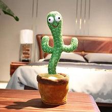 Engraçado cactus brinquedo de pelúcia dança cantando brinquedos elétricos brinquedo de planta de pelúcia brinquedo de educação infantil decoração para casa sem bateria
