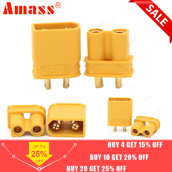 10 pièces Amass XT30U mâle femelle connecteur de balle brancher la mise à niveau XT30 pour RC FPV Lipo batterie RC quadrirotor (5 paire)