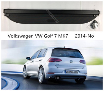 Rear Trunk Cargo Cover Security Shield For Volkswagen VW Golf 7 MK7 2014-2020 High Quality Auto Accessories Black Beige