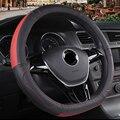 DERMAY чехол рулевого колеса автомобиля из натуральной воловьей кожи прочный для Volkswagen VW Polo 2014-2020 автомобильные аксессуары