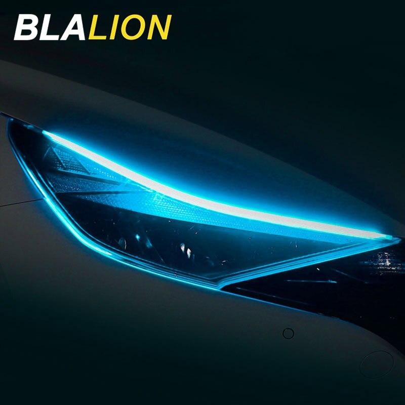 Гибкая автомобиля светодиодный светильник ленты двойной Цвет 30/45/60 см DRL светодиодный Авто головного средства ухода за кожей Шеи светильник...