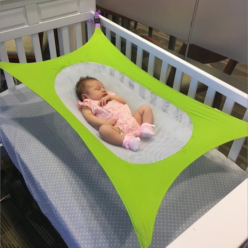 RLJJSH Infant Baby Portable Hammock Newborn Kid Quiescency Bed Dependable Detachable Baby Cot Crib Swing Elastic Hammock Adjustable Net RLJJSH Color : A