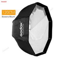 Godox 120cm Portable Octagonal Umbrella Softbox SB UE 120cm 47in with Bowens Mount for Speedlite CD50 T03P