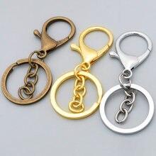 5 шт/лот кольцо для ключей длиной 70 мм с омаром застежка цепочка