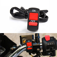 Universal Motorcycle Handlebar Flameout Switch ON OFF Button For Honda CRF230F XR 230 250 400 125 CRM250R CRF 250 L M 1000L(China)