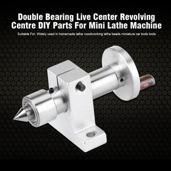 Double Bearing Live Center Lathe torna  Metal Revolving 2pcs Wrenches for DIY Mini Woodworking Lathe torna Machine mini tokarka lathe for high precision activity center mt3 mohs 3 live center carbide for lathe machine revolving thimble rotary s top