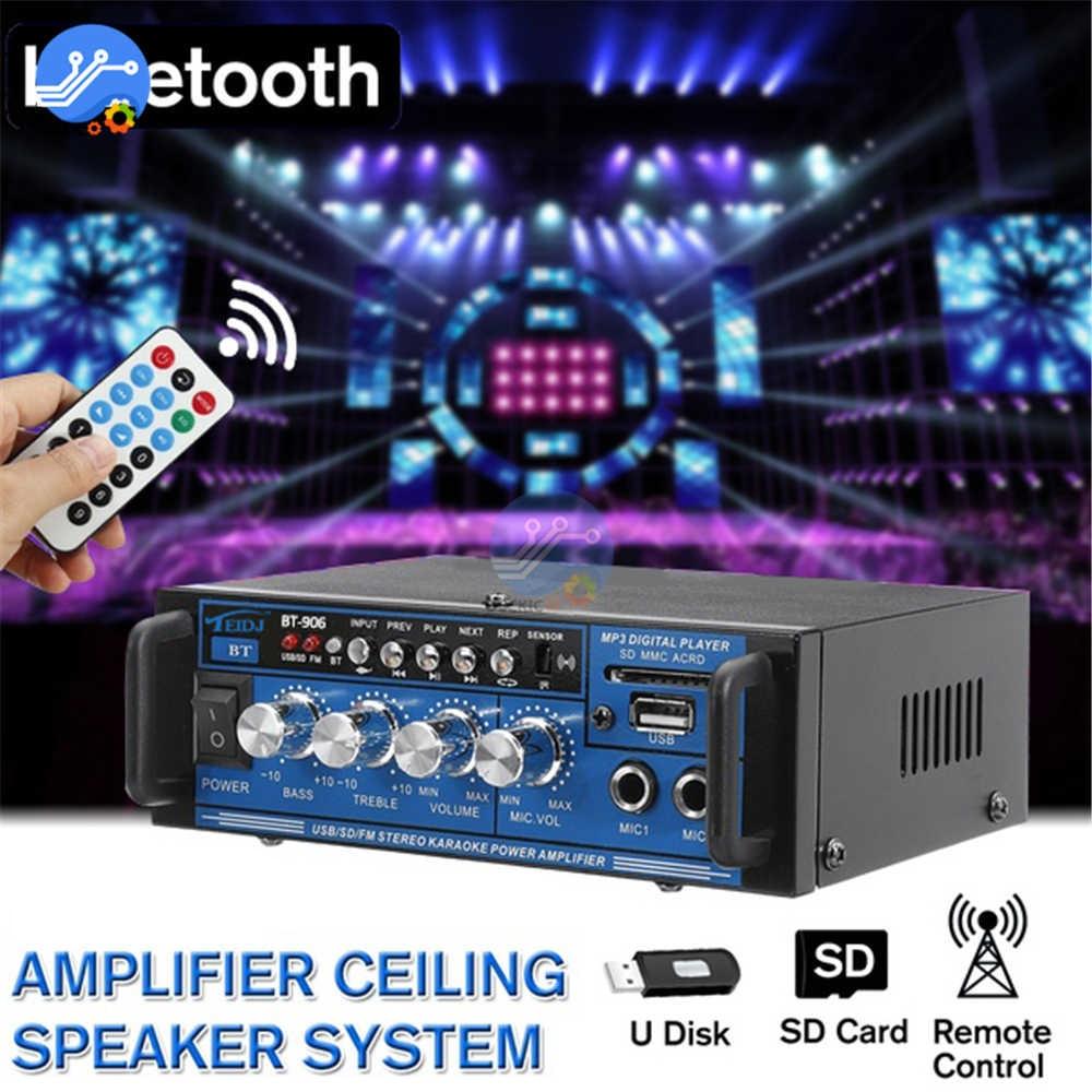 Digital Bluetooth Home Amplifier HIFI Stereo Subwoofer 220V 12V Home Theater Audio Sound System Professional AMP EU Plug