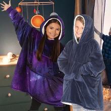 Koc dziecięcy bluza z kapturem sweter TV koc z polaru z kapturem zimowa bluza dla dzieci # W0 tanie tanio CN (pochodzenie) Other High Quality TV Fleece Blanket Hooded Podróży Pościel