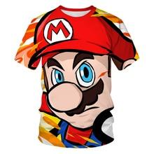 3D Printing T-shirt Mario Bros Boys And Girls Summer Clothes 2021 New Harajuku Style Classic Game Hip-Hop O-Neck Tshirt Kids