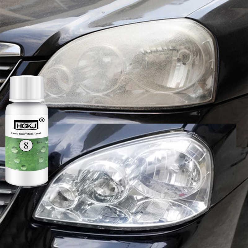 HGKJ-8-20ML araba parlatma tamir kiti far ajan parlak beyaz far tamir lambası dönüşüm tamir sıvısı Dropshipping