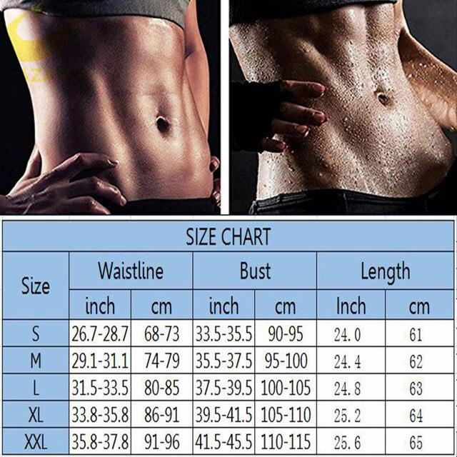 LAZAWG Women Hot Sweat Weight Loss Shirt Neoprene Body Shaper Sauna Jacket Suit Workout Long Training Clothes Fat Burner Top 5