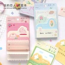 JIANWU 100 arkuszy Kawaii słodki sen seria notatnik sól świeży planista List notes dekoracja dziennik artykuły biurowe