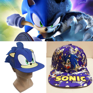 New 3D 1pcs blue Cute Boy Sonic The Hedgehog Cartoon Youth Adjustable Baseball Hat Cap For kids adults Hot Selling party gifts(China)