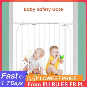Dzieci barierka ochronna ochrona dziecka bezpieczeństwo schody ogrodzenie drzwi dla dzieci bezpieczne drzwi brama zwierzęta pies izolowanie ogrodzenia produkt tanie i dobre opinie W wieku 0-6m 7-12m 13-24m CN (pochodzenie) Other Unisex Barierki ochronne dla dziecka Baby Safety Gate Poziome Stałe