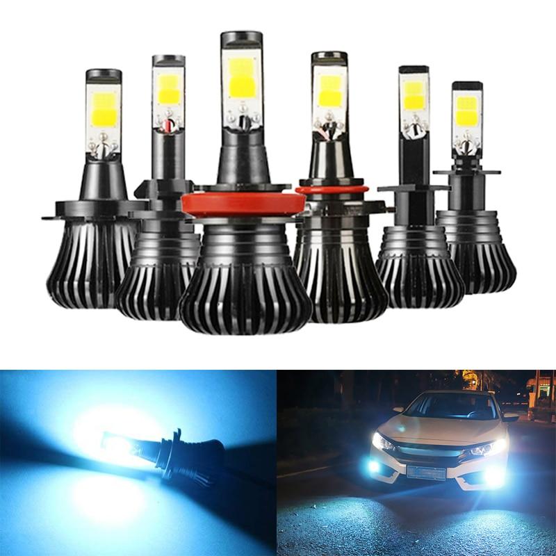 Niscarda 2Pcs COB  H1 H4 H7 H8 H11 9005 Driving 8000K Ice Blue Fog Lights Bulbs For Ford  BMW BENZ Fēngtián 3/5000 Toyota