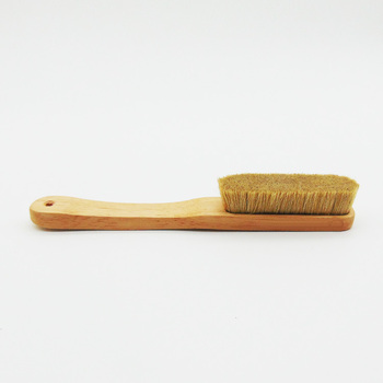 eco friendly pure natural boars hair climb chalk brush and rock climbing brush boar with wood handle 4