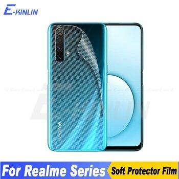 Перейти на Алиэкспресс и купить Задняя крышка из углеродного волокна защитная пленка для Realme 5i 6i 6S X50m X50 Q X Lite 3 3i 5 5s 6 X3 Super Zoom XT X2 Pro без стекла