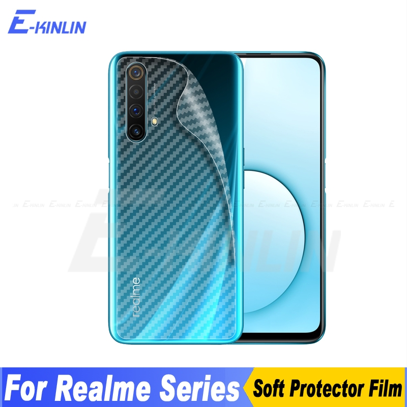 Carbon Fiber Back Cover Screen Protector For Oppo Realme X50 Q X Lite 3 3i 5 5s 6 XT X2 Pro Sticker Film Not Tempered Glass