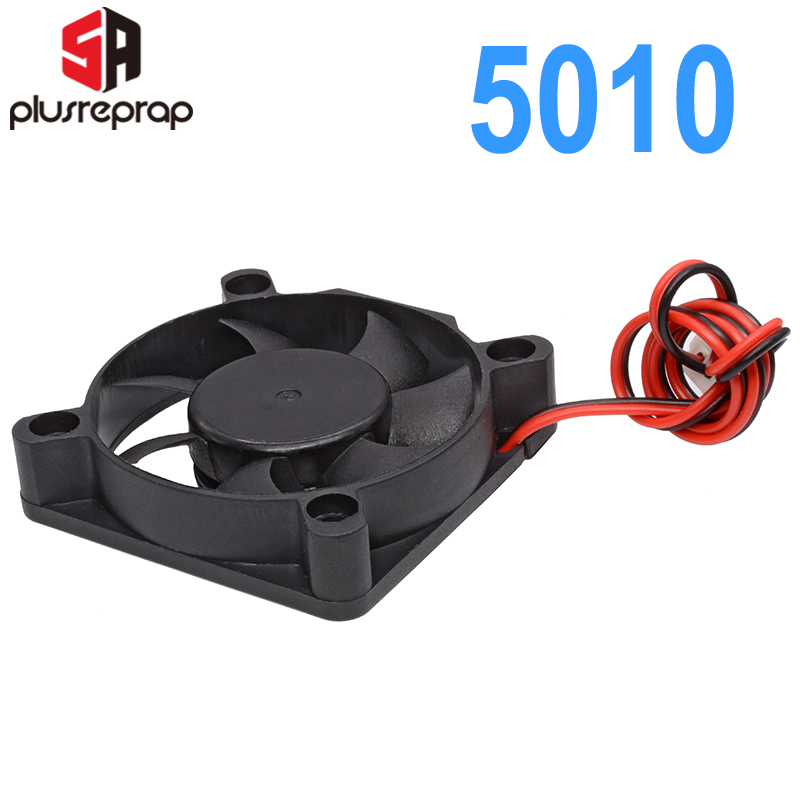<font><b>5010</b></font> 12V 24V Cooling Fan Brushless for Reprap 3D Printer Parts DC Cooler 50x50x10mm Plastic Fan image