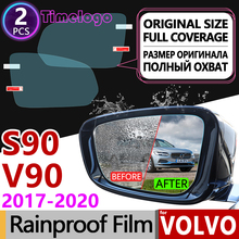 For VOLVO S90 V90 2017 2018 2019 2020 Full Cover Anti Fog Film Rearview Mirror Anti-Fog Films Sticker Accessories RDesign V90 CC ecotronic v90 r4lz