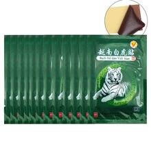 104 pçs vietnã branco tigre bálsamo dor remendo corpo pescoço massageador meridianos alívio do estresse artrite capsicum gesso