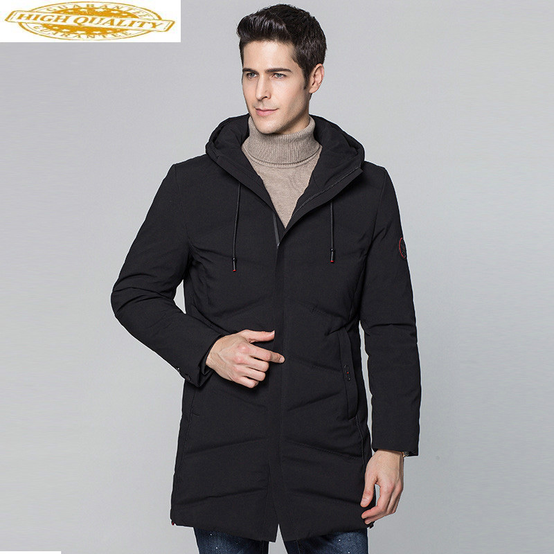 Men's Duck Down Jacket Long Winter Coat Men Hooded Thick Casual Coat Men's Jackets Parkas 2020 Abrigo Hombre KJ560