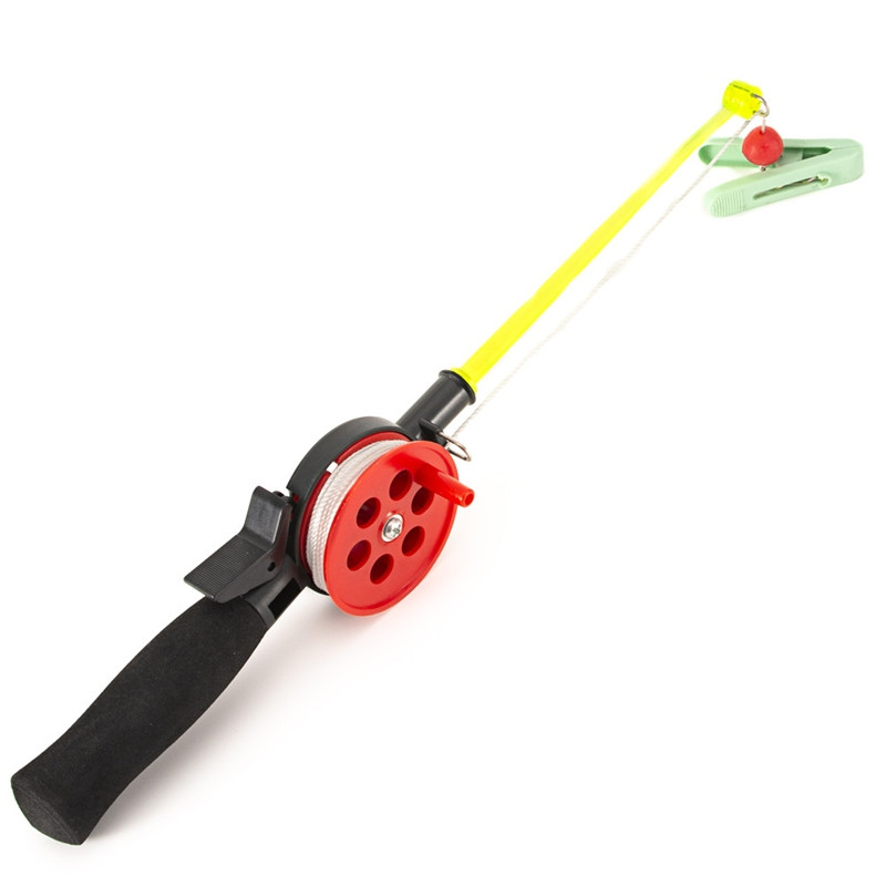 Fishing Rod Portable Ice Fishing Pole With Fishing Reel EVA Handle Outdoor Travel Winter Fishing Tackle