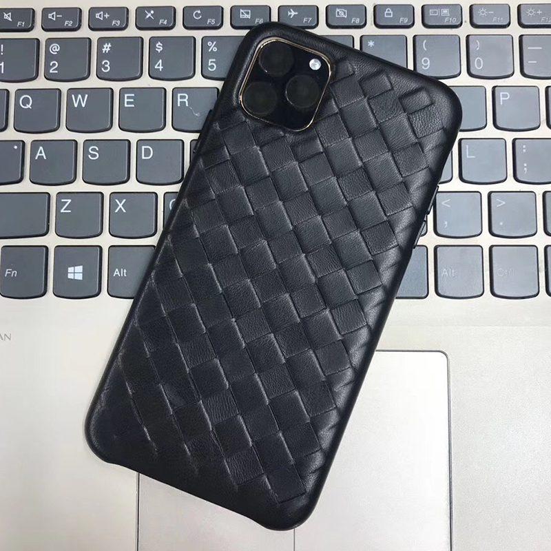 Image 4 - Fashion Woven Pattern Genuine Leather Case For Apple iPhone 11 Pro Max Luxury Soft Good Touch Cover For iPhone 11/ Pro/ Max CaseFitted Cases   -