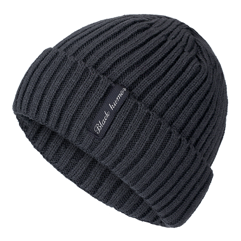 High Quality Black Human Winter Hat Add Fur Warm Beanies Hat Baggy Skullies Knitted Hat For Men Women Ski Sports Beanies Cap