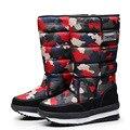Женские зимние ботинки; Зимние ботинки на платформе; Водонепроницаемые Нескользящие ботинки из толстого плюша; Модная женская зимняя обувь