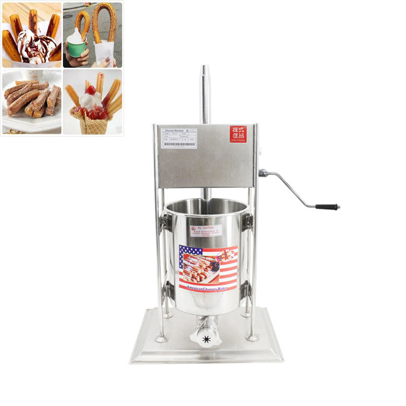 10L Commercial Electric Spanish Churrera Churro Maker Filler Churros Making Machine CE Stainless Steel