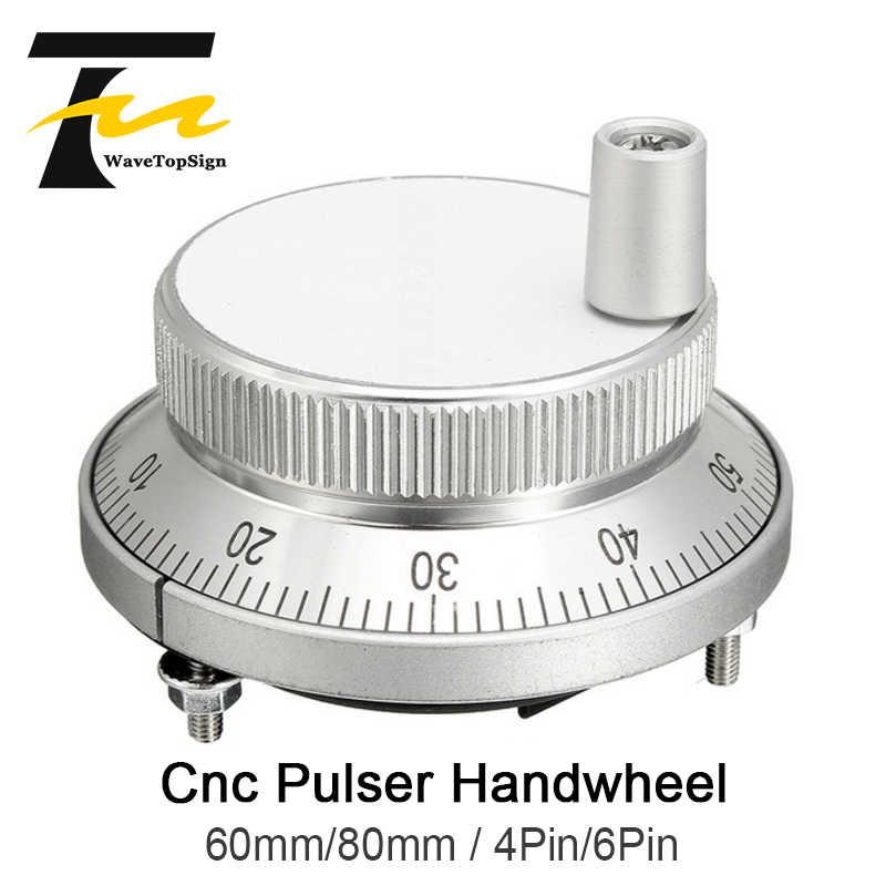 CNC Handwheel 5V Electronic Handwheel Pulse Generator 60mm Diameter with Handle for CNC Machine