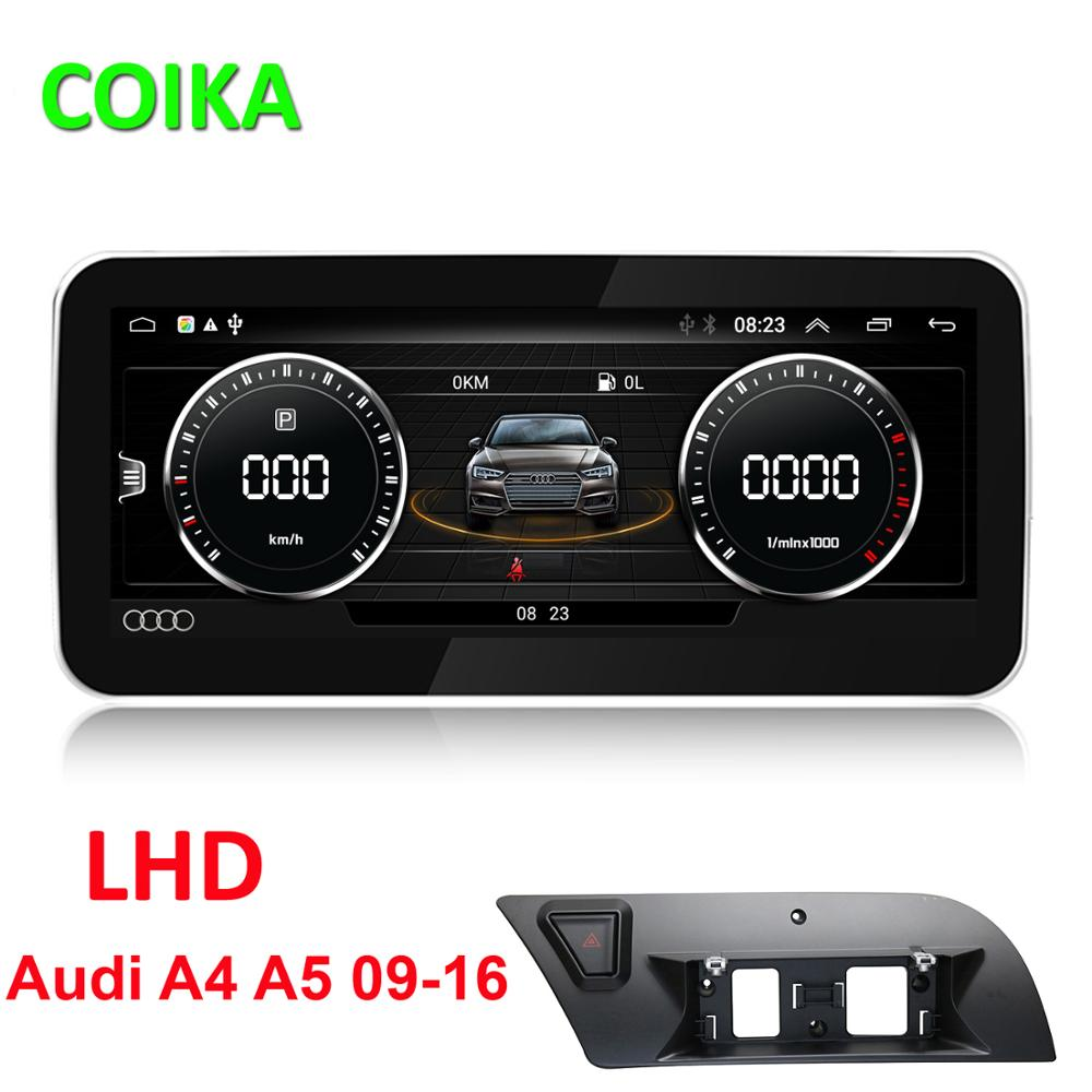 COIKA Android 9.0 System Car Screen Player For Audi A4L B8 A5 2009-2017 GPS Navi Multimedia Stereo 2+32G RAM WIFI Google BT IPS