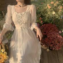 Laço doce e elegante vestido feminino magro longo coreano vestido de noite feminino gola de festa kawaii vestido de verão de manga curta 2021