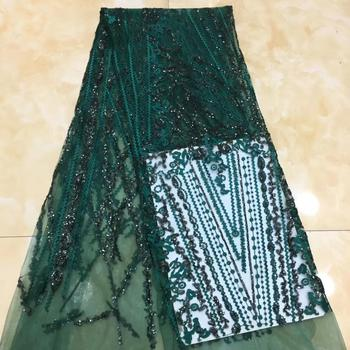 Madison Sequins African Lace Fabric 2019 Embroidered Nigerian Laces Fabric High Quality French Tulle Lace Fabric For Women Dress