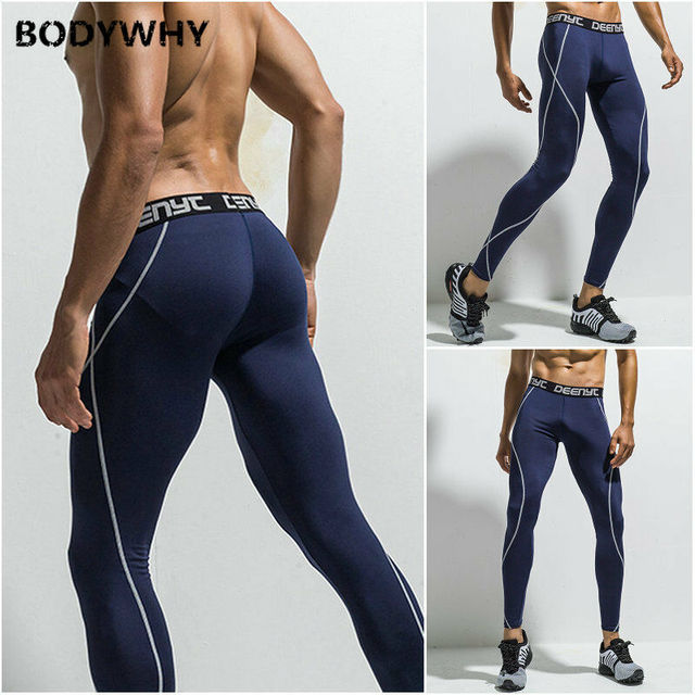 Mens Gym Sport Thermal Tight Compression Base Layer Pants Long Leggings Trousers  Skinny  Full Length 4