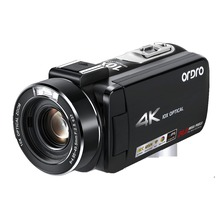 Ordro HDR-AC7 4K UHD Camcorder 10x Optical Zoom Video Camera 3.1'' IPS Wi-Fi Cam