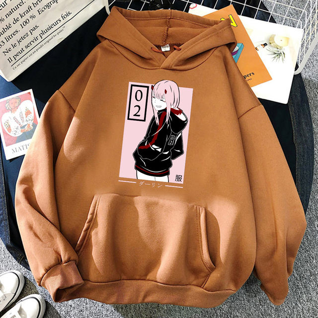 ZERO TWO DARLING IN THE FRANXX THEMED HOODIE (13 VARIAN)